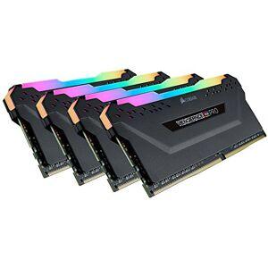 Corsair Vengeance RGB PRO 64 GB (4 x 16 GB) DDR4 3200 MHz C16 XMP 2.0 Enthusiast RGB LED Illuminated Memory Kit - Black