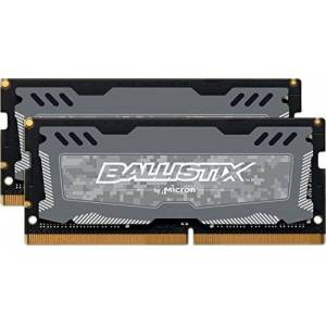 Crucial Ballistix Sport LT BLS2K8G4S240FSD 2400 MHz, DDR4, DRAM, Laptop Gaming Memory Kit, 16GB (8GBx2), CL16 (Grey)