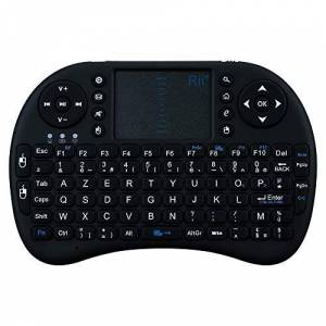 Shot Case Mini Rechargeable Bluetooth Keyboard for Gionee S8 Wireless Smartphone AZERTY (Black)