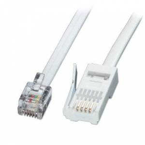 LINDY Fax/Modem to BT Telephone Wall Socket Straight-through 2m