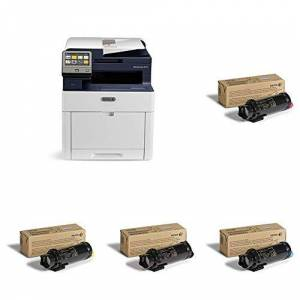 Xerox WorkCentre 6515n A4 Colour Multifunction LED/Laser Printer with 106R03476 Cartridge, Black and 106R03477 Cartridge, Cyan and 106R03478 Toner Cartridge, Magenta and 106R03479 Cartridge, Yellow