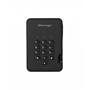 iStorage IS-DA2-256-1000-B 1TB diskAshur2 USB 3.1 secure portable encrypted hard drive - Phantom Black