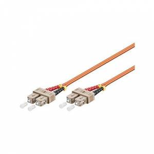 Goobay 96166 Optical Fibre Cable, Multimode (OM2), Orange, 20 m Length