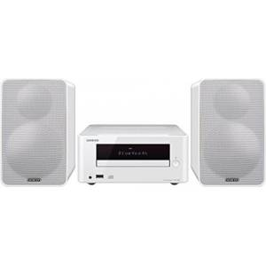Pioneer Onkyo CS-265(W) CD HiFi Mini System (CD Player, MP3, Radio, 2 x 20 Watts Output, Two-Way Speaker, Bluetooth, NFC, Music Streaming, USB/Audio in, iPhone compatible) White