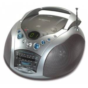 Roberts CD9959 Swallow LW/MW/FM Radio CD Player - Grey/Silver