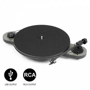 Pro-Ject Audio Systems Elemental Phono USB Hi-Fi Turntable - Silver