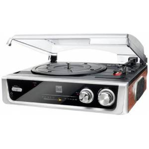 Dual DTR 50 Record Plater with In-Built Speakers (Antenna 3.5 MM Jack/Ukw-Tuner) Silver