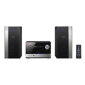 Pioneer X-PM12(B) Micro Hifi System (CD, MP3/WMA, FM Radio, 2 x 38 Watt Output, Speakers, Bluetooth, Music Streaming from Smartphone, App, USB/Audio in, Compact Design) Black