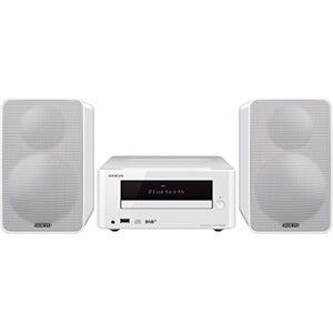 Onkyo CS-265DAB(W) CD HiFi Mini System with DAB+ (CD Player, MP3, Radio, 2 x 20 Watt output, Speakers, Bluetooth, NFC, Stream Music, USB/Audio in, iPhone compatible) White