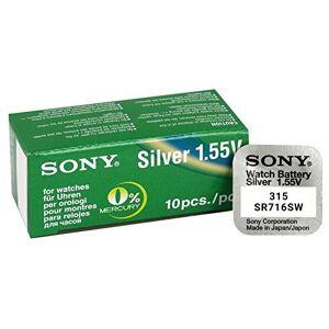 Sony 315 SR716SW Silver Oxide 0% Mercury Watch Battery
