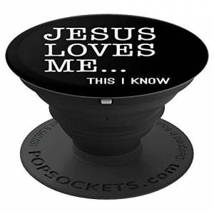Loved John 3:16 Bible Verse Tees and Gifts Jesus Loves Me Christian Gift PopSockets Grip and Stand for Phones and Tablets