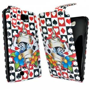 Accessory Master Leather Case for Samsung Galaxy Note 2 S7100 Multi-Coloured Cards