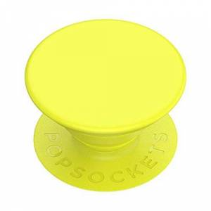 PopSockets PopGrip - Expanding Stand and Grip with a Swappable Top for Phones & Tablets - Neon Yellow