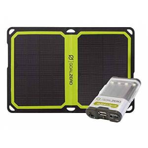 Goal Zero Guide 10 Plus Solar Recharging Powerbank Kit includes Nomad 7 W Solar Panel 100mW Flashlight Led Battery NIMH Headlamp 3 Recharges Go Pro 2 Recharges Phone 1 Recharges Tablet 25% Boost