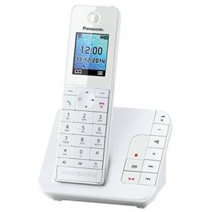 Panasonic KX-TGH 220 Cordless Phone with Answering Machine (Hands Free Functionality, Low Radiation)