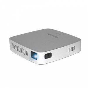 Philips - PicoPix PPX5110 I Portable Projector   Built-in Speaker   70-Minute Battery   Compact Design   Bluetooth Technology   HDMI   Micro USB   RGB LED   On-The-Go Content Sharing - Silver