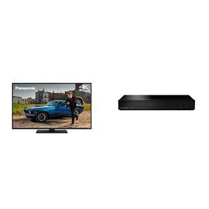 Panasonic TX-55GX551 55 inch 4K Ultra HD HDR Smart TV and DP-UB150EB-K 4K Ultra HD Blu-Ray Player with HDR10+