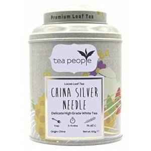 Tea People China Silver Needle, 60 g Loose Leaf Tea in a Tin Caddy, CSN-60g