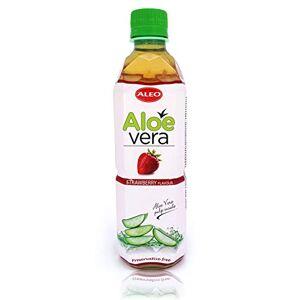 ALEO Strawberry Flavour Aloe Vera Drink, 500 ml, Pack of 24