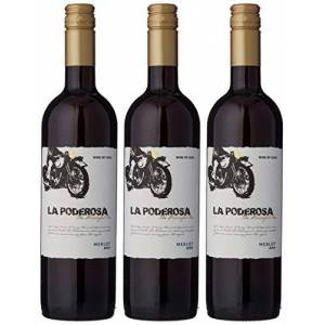 La Poderosa Merlot Red Wine 75 cl (Case of 3)
