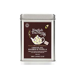 English Tea Shop Organic Rooibos Chocolate Vanilla - 100g Loose leaf tea in a Tin