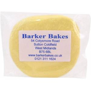 Barker Bakes Gelatine Free Yellow Flowerpaste for Cake Decorating and Sugar Flowers 300 g
