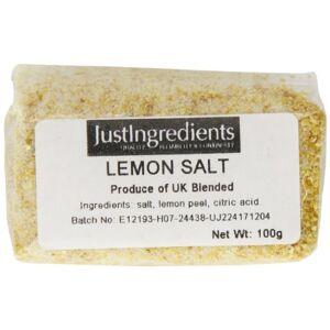 JustIngredients Essentials Lemon Salt 100 g, Pack of 5