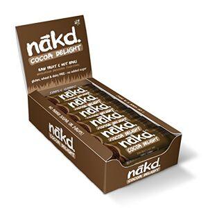 Nakd Cocoa Delight Natural Fruit & Nut Bars - Vegan - Gluten Free - Healthy Snack,s 35 g (Pack of 18)