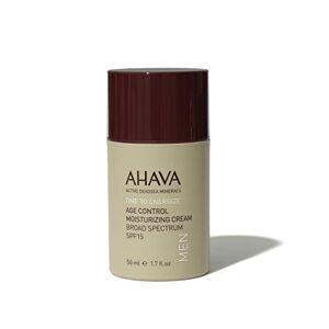 AHAVA BEST ANTI AGING CREAM - AHAVA Men Age Control Moisturising Cream SPF15 50 ml Dead Sea Natural Anti Wrinkle Treatment - UV Protection Against the Effects of Weather and Environmental Damage