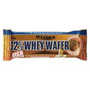 Weider Strawberry 35g Whey Wafer Bar - Pack of 24 Bars