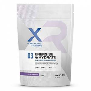 Reflex Nutrition Energise & Hydrate PRE Workout Protein Powder BCAA Electrolytes Carbohydrates 180mg Caffeine (400g) (Watermelon)