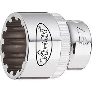 "Vigor V1988 Multi-Profile Socket Wrench Bit, 10 mm, 1/2"""