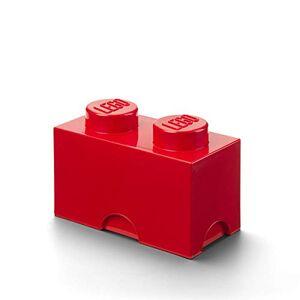 "Room Copenhagen Storage Brick ""Lego"" with 2 Knobs, Red"