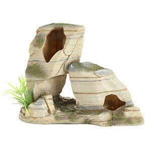 Pet Ting Slanted Rocks Ornament for Fish & Reptile Tanks - Decoration Rock