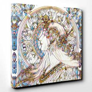 Big Box Art Canvas Print Wall Art Alphonse Mucha Zodiac   Mounted and Stretched Box Frame Picture   Home Decor for Kitchen, Living, Dining Room, Bedroom, Hallway, Broken Glass, 20x20 Inch