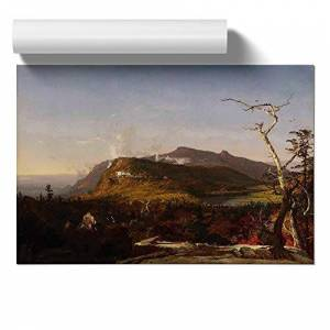 Big Box Art Poster Print Wall Art Jasper Francis Cropsey Catskill Mountain House   Home Decor for Kitchen, Living, Lounge, Dining Room, Bedroom, Multi-Colour, A2 (59.4 x 42cm / 23.4 x 16.5 Inch)