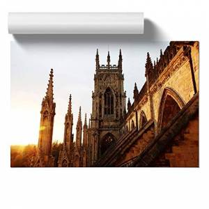 Big Box Art Poster Print Wall Art York Minster Sunset   Home Decor for Kitchen, Living, Lounge, Dining Room, Bedroom, Office, Hallway, Multi-Colour, A2 (59.4 x 42cm/ 23.4 x 16.5 Inch)