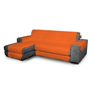 Elegant quilted sofa cover, orange 290cm + chaiselongue, microfiber