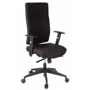hjh OFFICE, 608500, Executive Chair, office chair, swivel, PRO-TEC 300, black, robust fabric, ergonomic high backrest,  3-position lockable synchro mechanism,computer desk chair with armrests