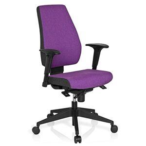 hjh OFFICE Office Chair/Swivel Chair PRO-TEC 500 Fabric Dark Grey/Purple hjh OFFICE