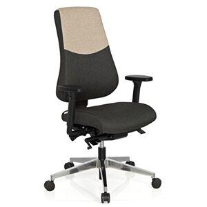 hjh OFFICE Office Chair/Swivel Chair PRO-TEC 600 Fabric Dark Grey/Beige hjh OFFICE