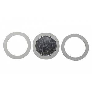Bialetti: 3Cup Moka Induction 3Gasket and Filter Plate