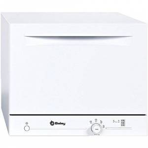 Balay 3vk301bc 3VK301BC Hob 6A + Countertop Dishwasher, A+, fits 6 Pieces -Dishwasher Cutlery Hob, White, (White, Buttons, Rotarydial, 1.7m, 1.5m)