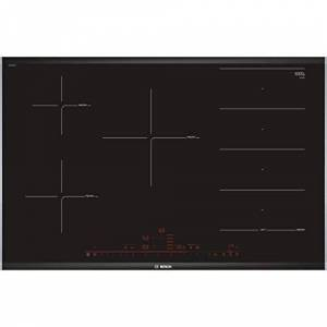 Bosch 8Series PXV875DC1E Built-in Hob, with Induction Plate, Glass and Ceramic, Black, 1400 W