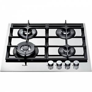 Whirlpool Gas hob with 4 Burners AKT6465WH, Stainless Steel