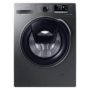 SamsungAddwash WW90K6414QX/EU Freestanding Smart Washing Machine, 9kg Load, 1400rpm Spin, Graphite