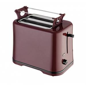 Efbe-Schott 2-Slice Toaster, Detachable Warming Rack, Built-in Crumb Tray, 700 W, Wine Red, SC TO 1080 WR