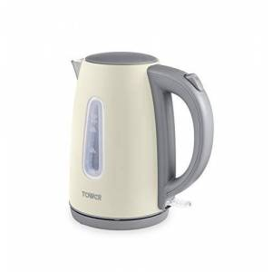 Tower T10048PEB Electric Jug Kettle, Infinity Stone Collection, 1.7 L Capacity with Stainless Steel Body, Boil Dry Protection, 3KW, Pebble