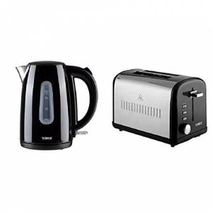 Tower Infinity T10015BL + T20014BL Kettle and 2 Slice Toaster Set - Black