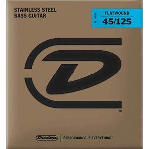 Dunlop DBFS45125 Flatwound Bass Strings, Medium